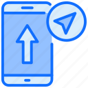 arrow, mobile, up, navigation, upload