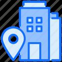 building, hospital, factory, location, navigation