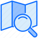 direction, search, magnifier, locators, map