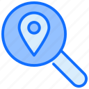 search, magnifier, location, map, pin