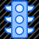 lights, traffic, road, transport, thin