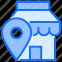 shop, navigation, location, mark, destination