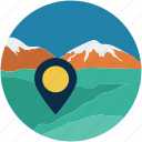 gps, location, travel, vaction icon