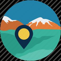 gps, location, travel, vaction icon