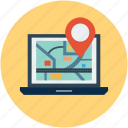 gps, location, travel icon
