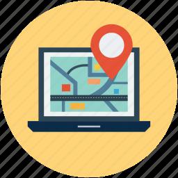 gps, location, travel icon
