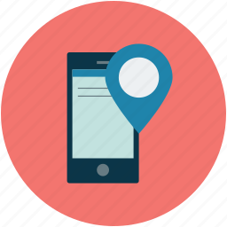 address, gps, location, mobile gps icon
