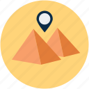 gps, location, vacation, pyramids