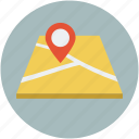 direction, gps, location, travel icon