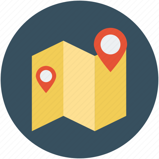 directions, gps, location, map, map marker icon