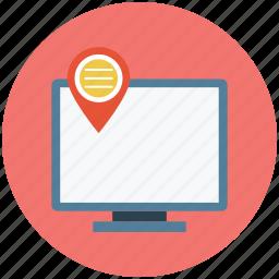 computer address, ip address, location icon
