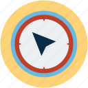 compass, location, north, travel icon