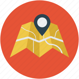 address, directions, gps, location, map, way point icon