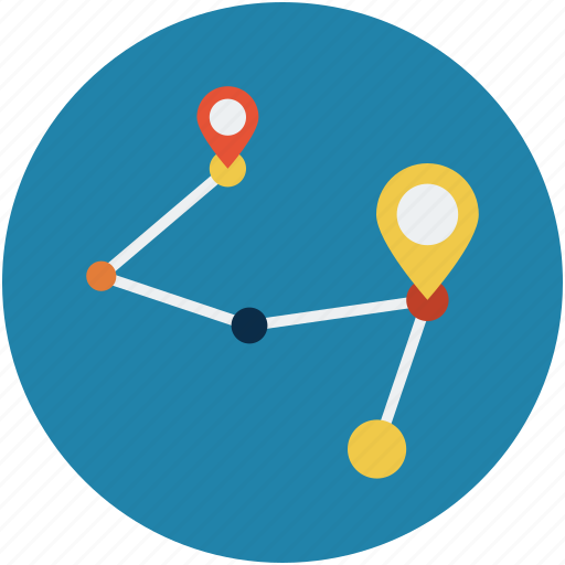 directions, gps, location, points of interest icon