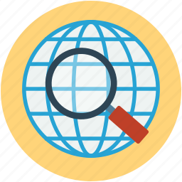 global, gps, location, searching, tracking, zoom icon