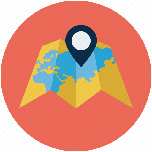 directions, gps, location, map, tracking, waypoint icon