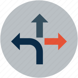 arrows, directions, street icon