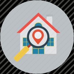 address, gps, home, home address, location icon