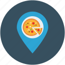 gps, location, pizza, pizza address, restaurant icon