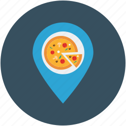 gps, location, pizza, pizza address, restaurant icon