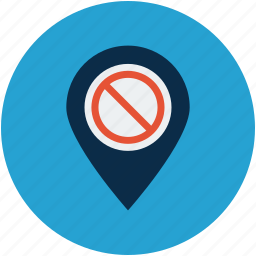 disabled gps, do not enter, gps, restricted icon