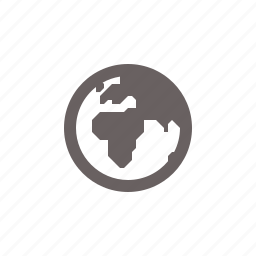 africa, east, globe, middle, navigation icon