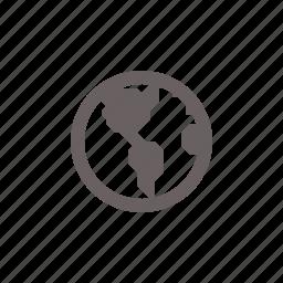 america, globe, navigation icon