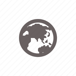 asia, globe, navigation icon