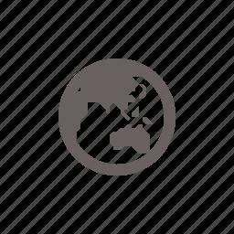 asia, globe, navigation, oceana icon