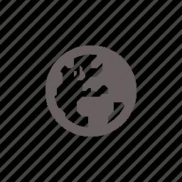 atlantic, europe, globe, navigation icon