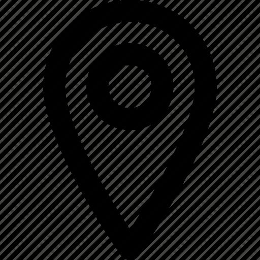 gps, location, navigator, pin, position icon