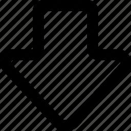 arrow, bottom, next icon
