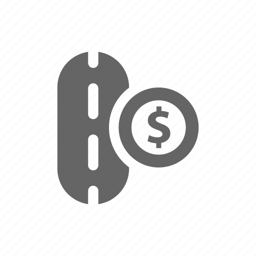 coin, dollar, money, paid, paid road, road icon