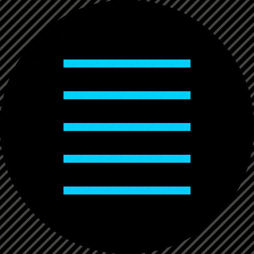 list, menu, navigation, setup icon