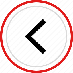 arrow, back, left, point, pointer icon