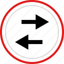 arrow, arrows, back, left, point icon