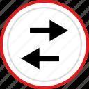 left, arrows, back, arrow, point