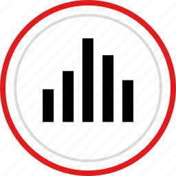 bars, data, graph, report icon