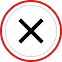 cross, delete, denied, stop icon