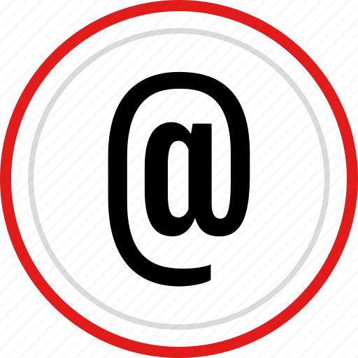 atsign, contact, email, mail, tweet icon