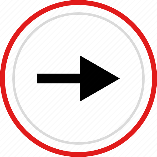 arrow, forward, move, point, pointer icon