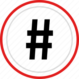 code, contact, dial, hashtag, tweet icon