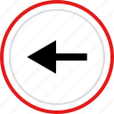 arrow, exit, left, point, pointer