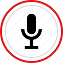 audio, microphone, music, record, youtube icon