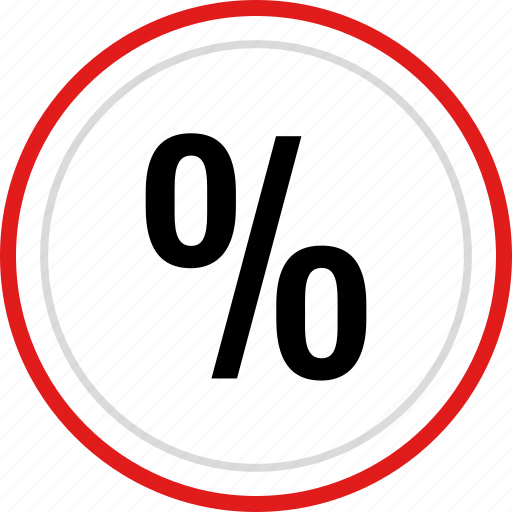 calculation, interest, percent, percentage, rate icon