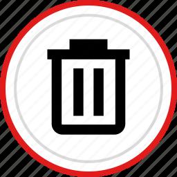 bin, delete, erase, menu, option, trashcan icon