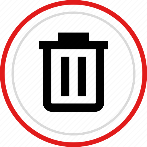 bin, delete, erase, menu, option, trashcan icon
