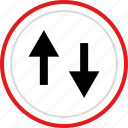 arrow, down, point, pointer, up icon