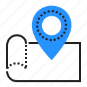 geotagging, location, map, pointer icon