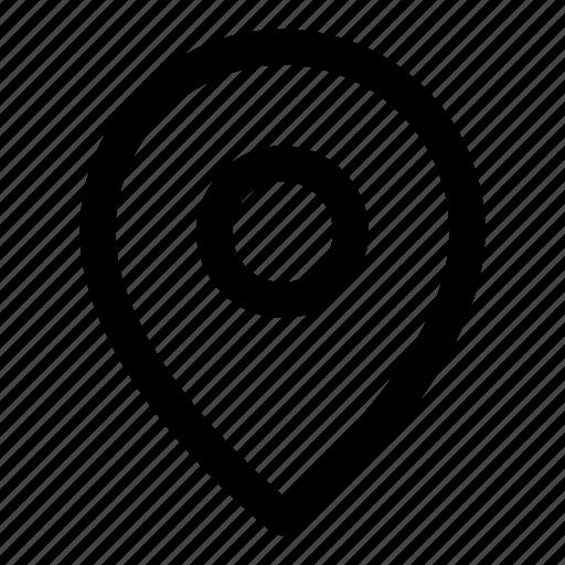 Gps, map, marker, navigate, navigation, pin, point icon - Download on Iconfinder